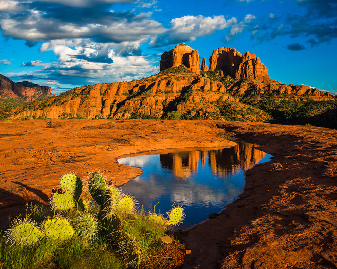 Beautiful Fall Pictures Wallpaper Landscape Nature Cathedral Rock In Sedona Arizona United
