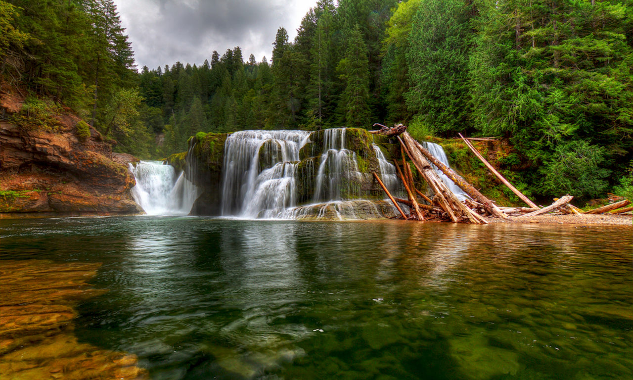 Natural Falls Wallpaper Free Download Pinchot Gifford Forest Waterfall Beautiful Landscape Lower