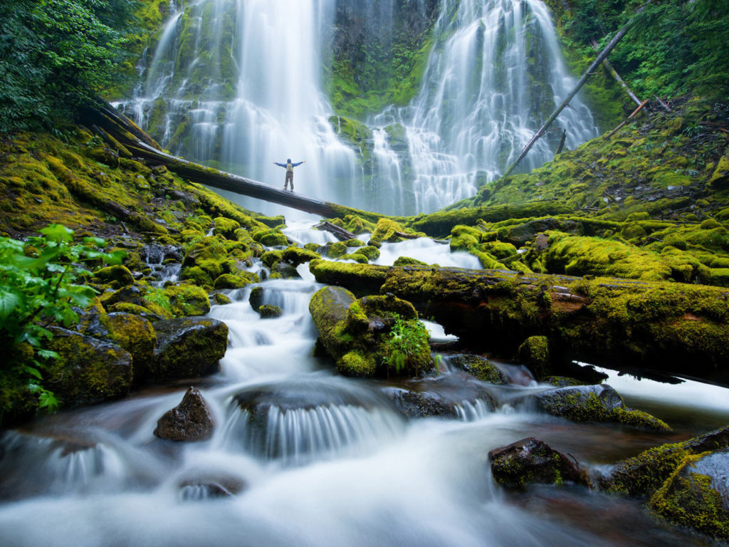 Fall Foliage Iphone Wallpaper Proxy Falls Mckenzie River Waterfalls Eugene Cascades
