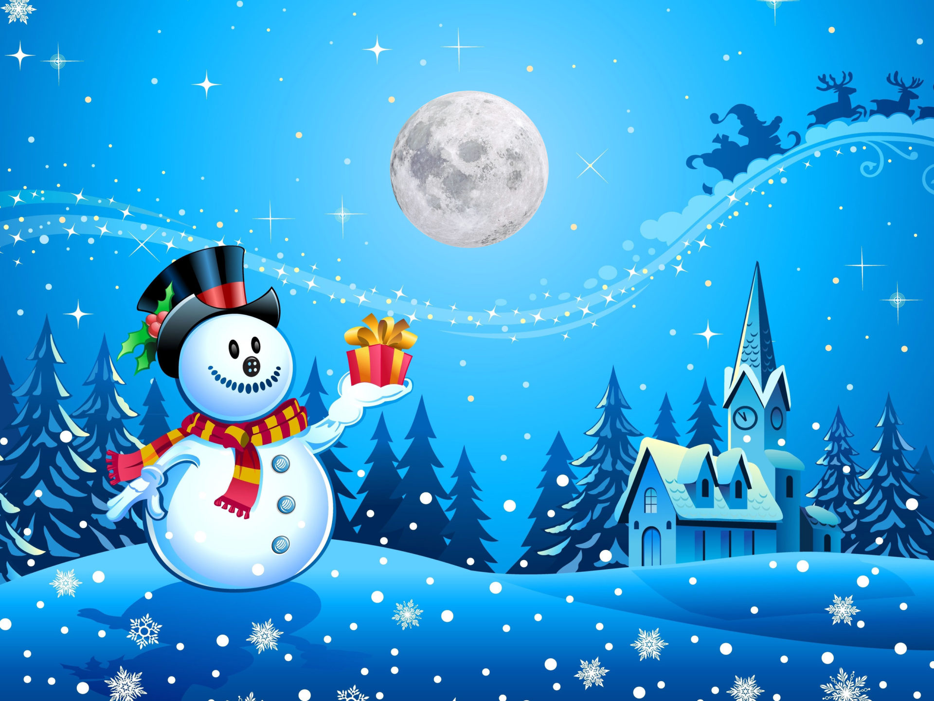 Winter Wonderland Iphone Wallpaper Christmas Snowman Happy Holiday For Kids Electronic Card
