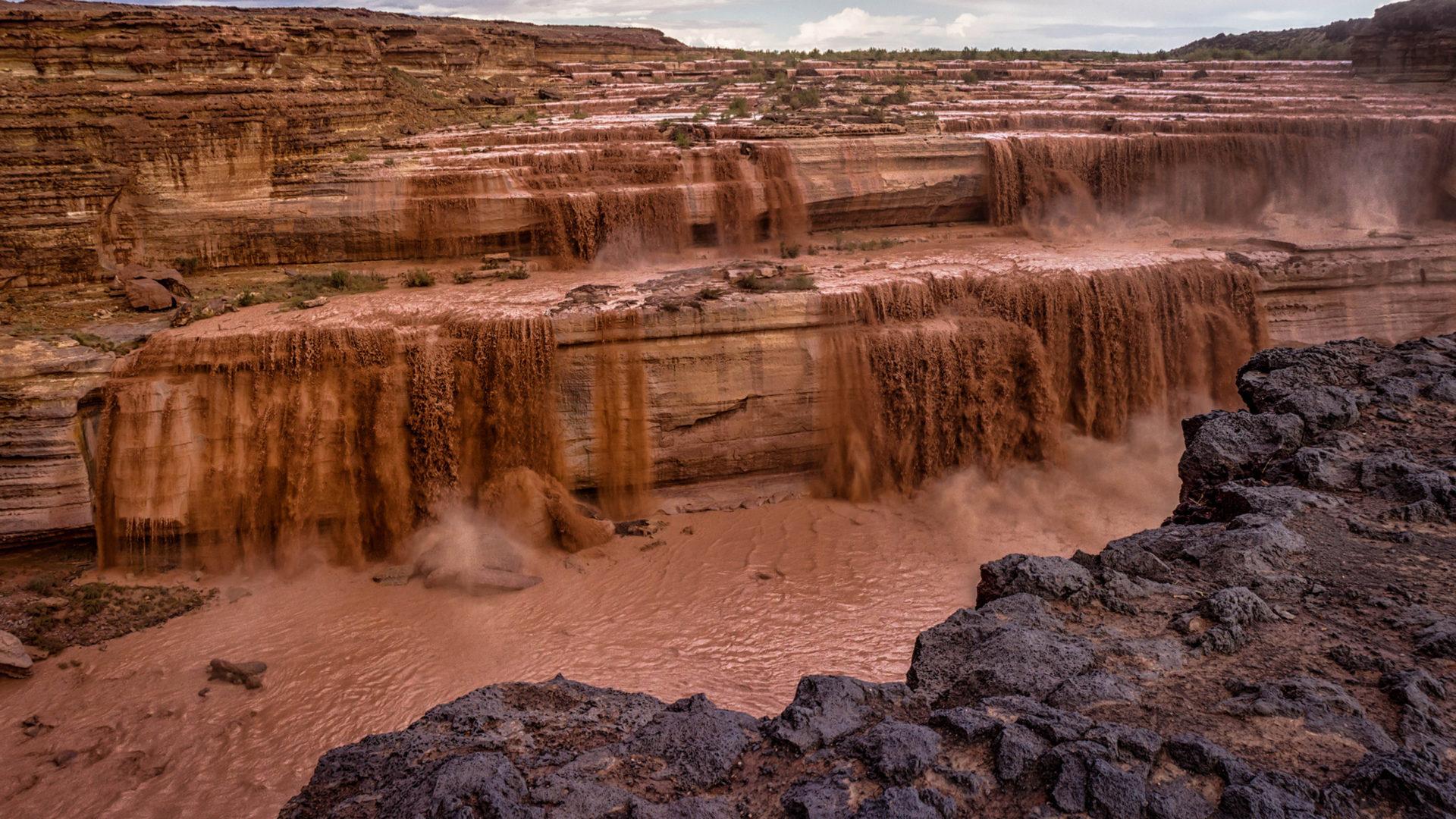 Havasu Falls Arizona Wallpaper Grand Falls Chocolate Falls River Little Colorado Arizona