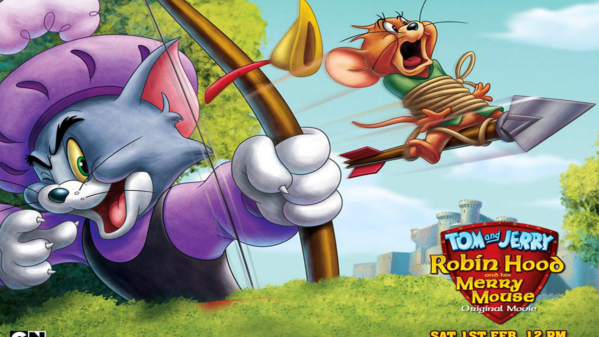 Free Cute Cartoon Wallpapers Ctom And Jerry Robin Hood Cartoon Bow And Arrow Video Game