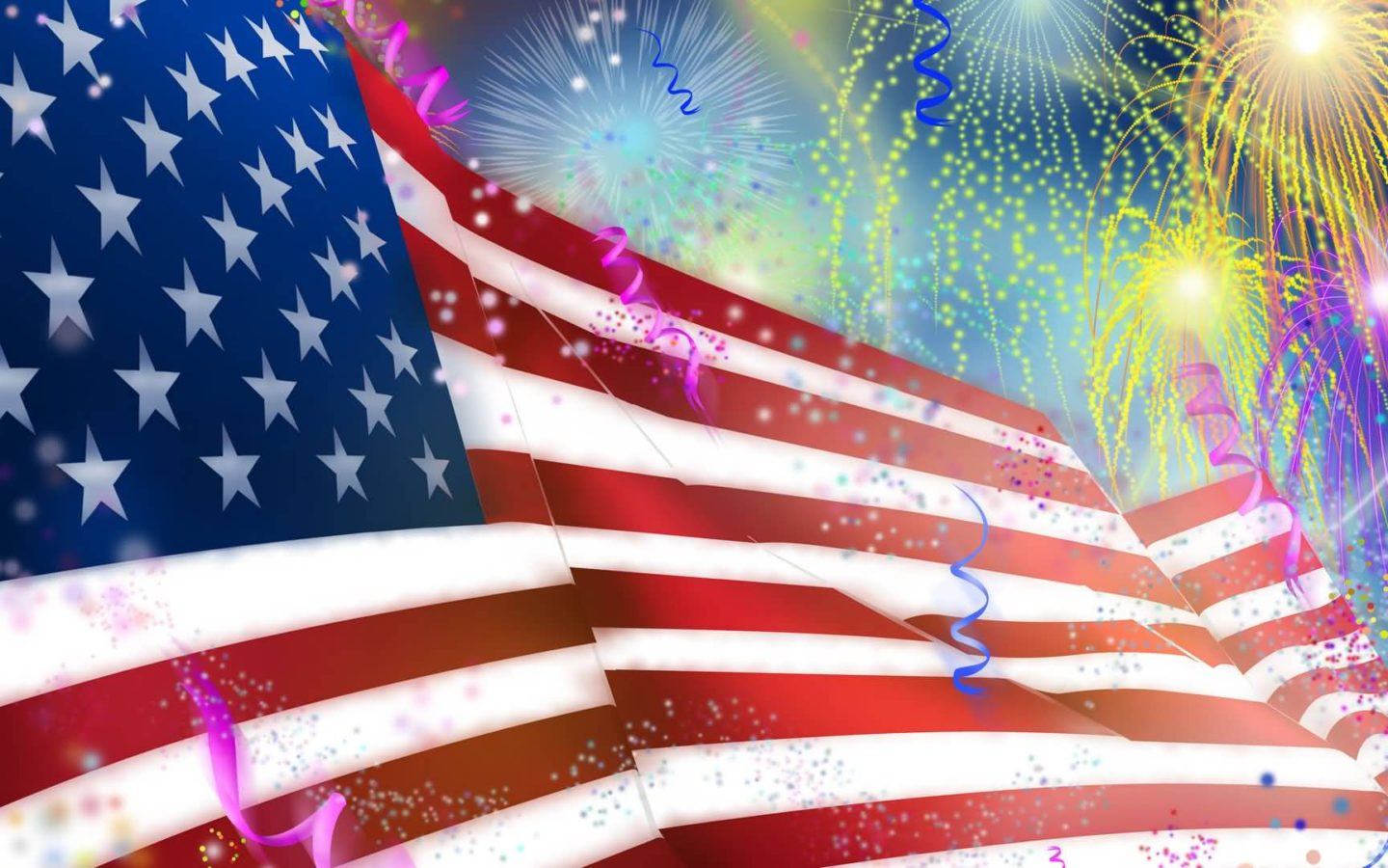 american flag and fireworks images