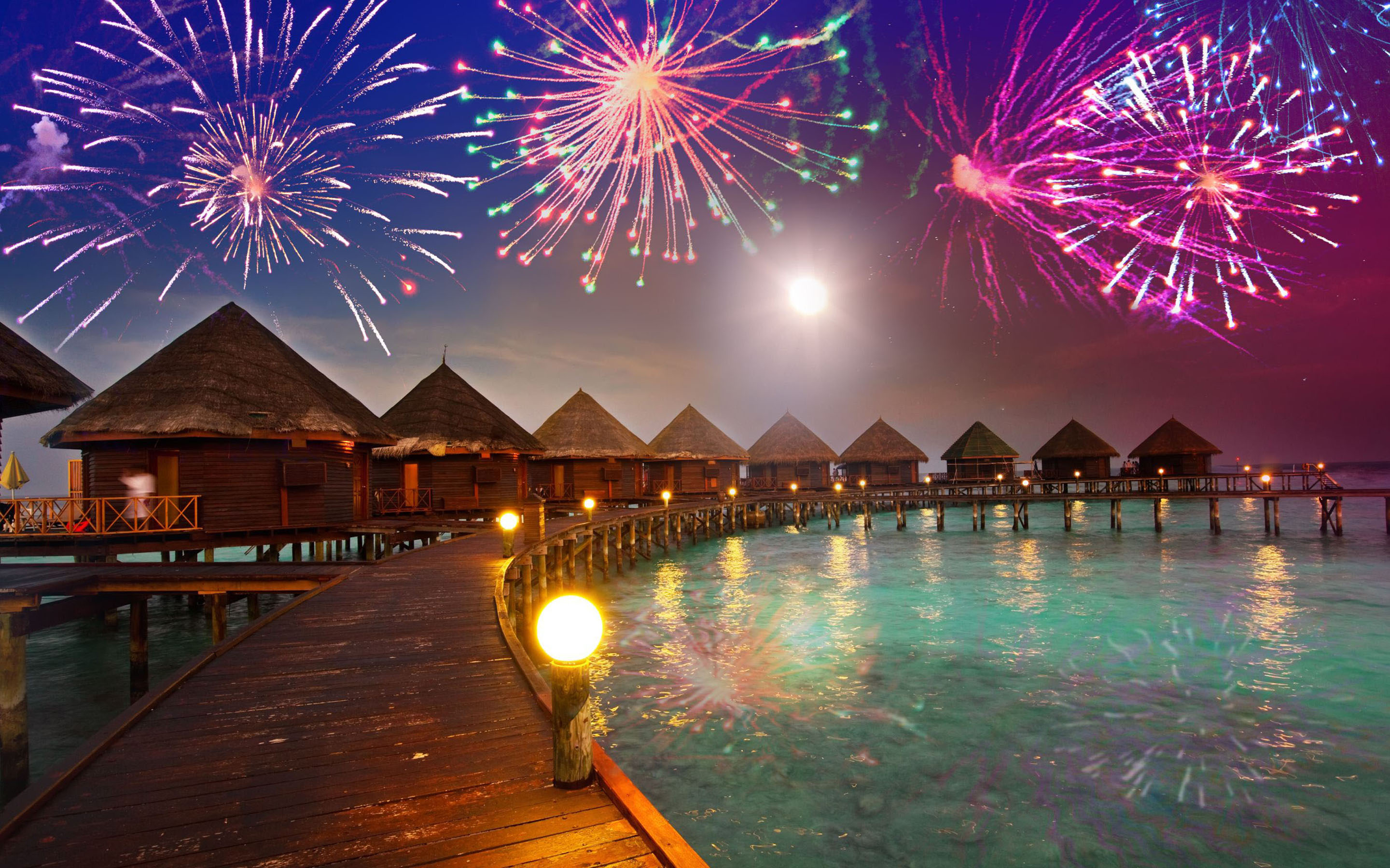 Christmas And New Year In Maldives Hd Desktop Wallpaper