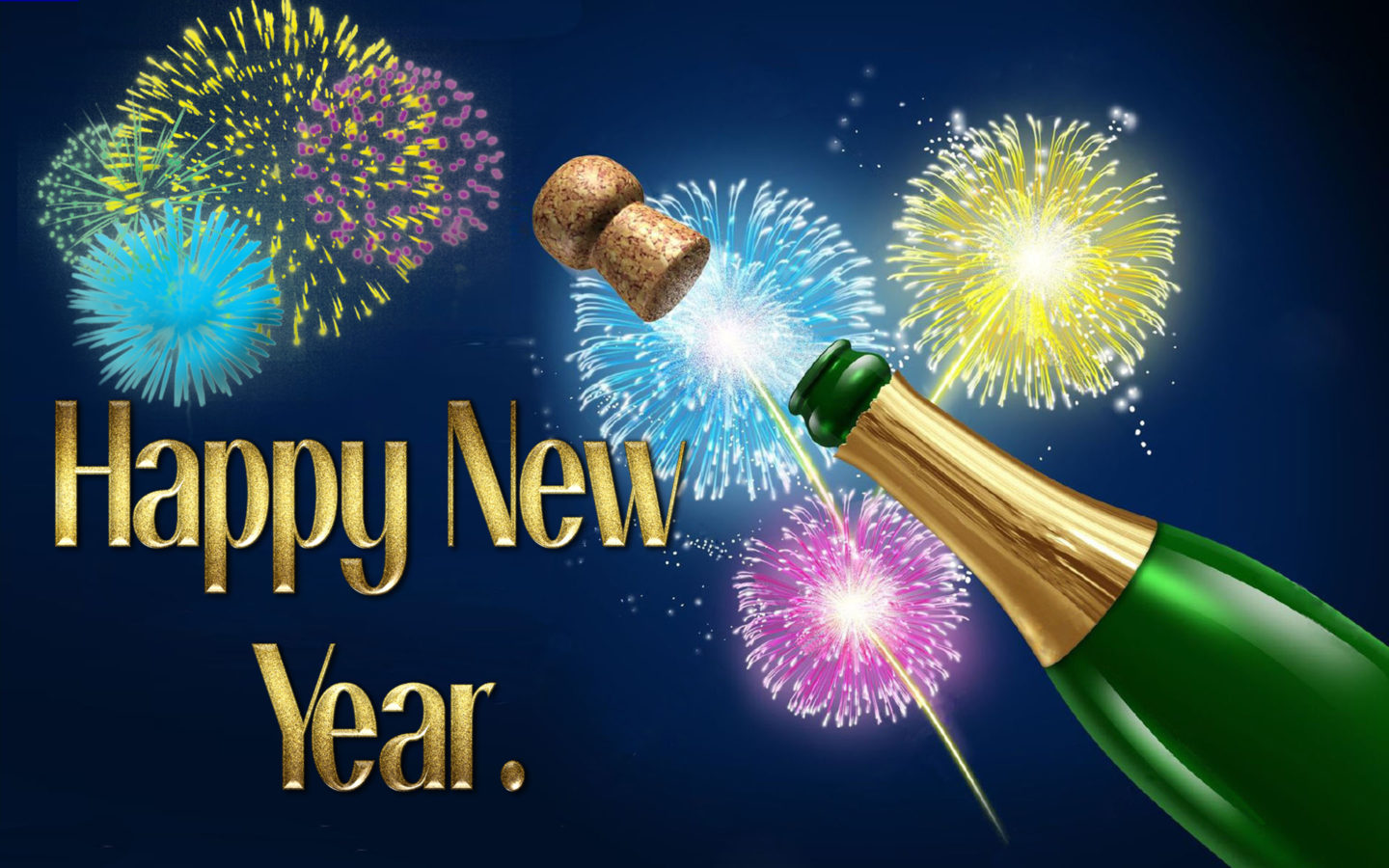 Animated Durga Wallpaper Happy New Year Celebration Of New Year Champagne Explosion