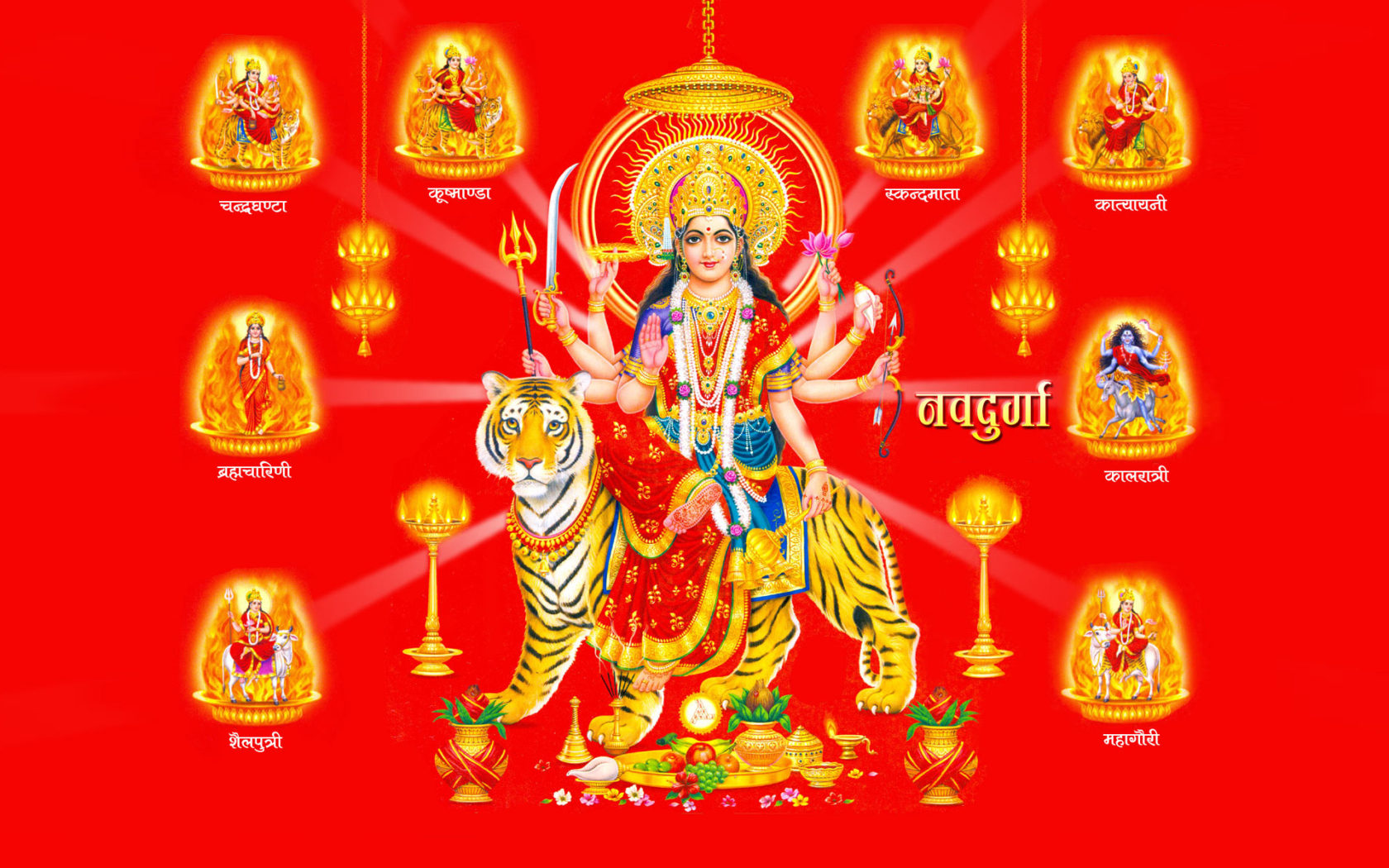 New Live Wallpapers For Iphone X Maa Nav Durga Photo And Hd Wallpaper For Desktop 1920x1200