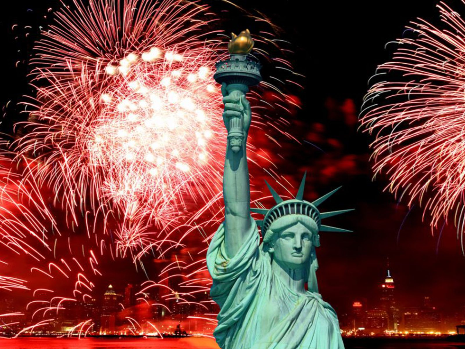 Christmas Wallpaper Hd Android The Statue Of Liberty And 4th Of July Celebration