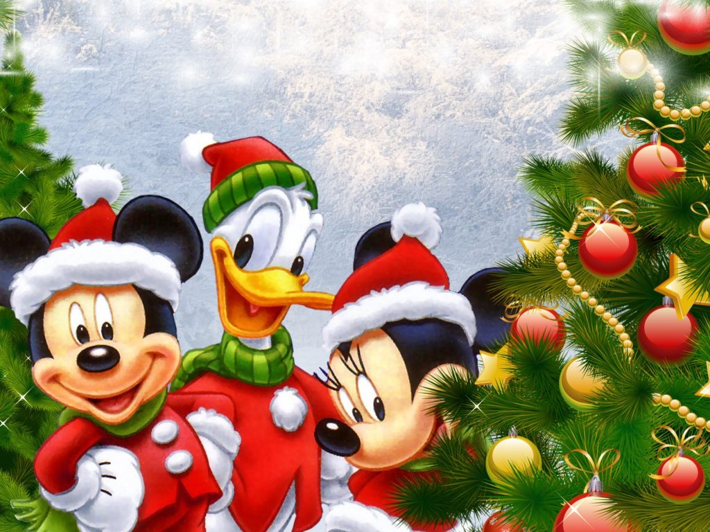 Disney Donald Duck Mickey And Minnie Mouse Christmas Tree