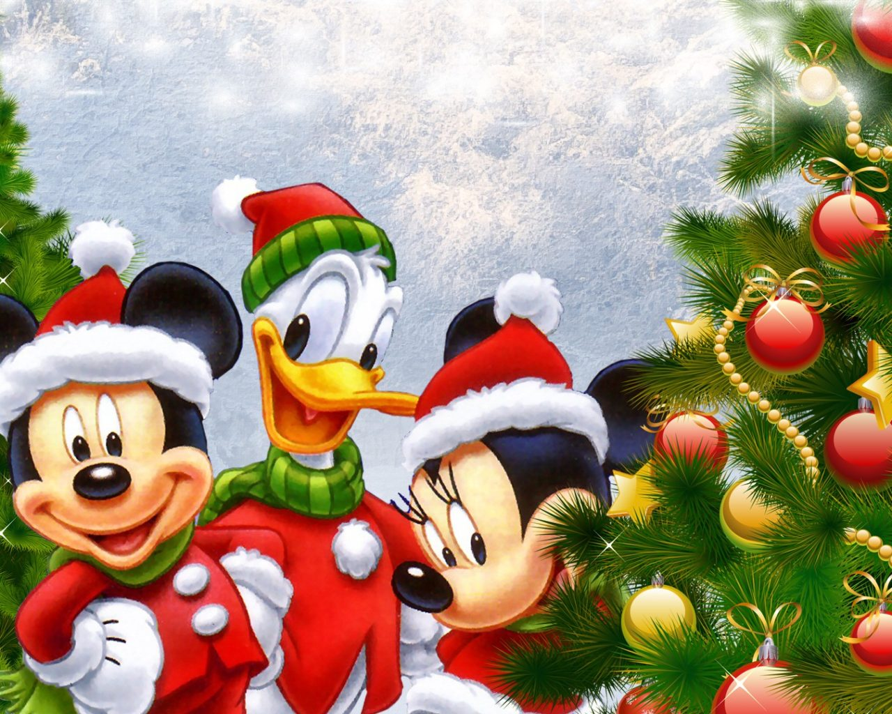 Daisy Iphone Wallpaper Disney Donald Duck Mickey And Minnie Mouse Christmas Tree