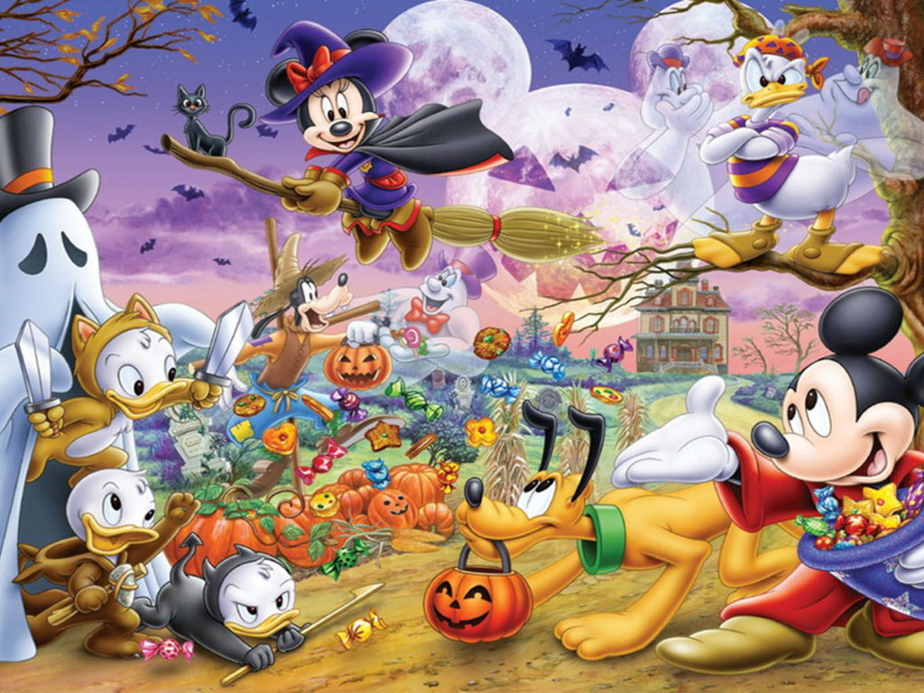 Iphone 4 Wallpapers Hd Free Download Halloween Cartoon Mickey And Minnie Mouse Donald Duck