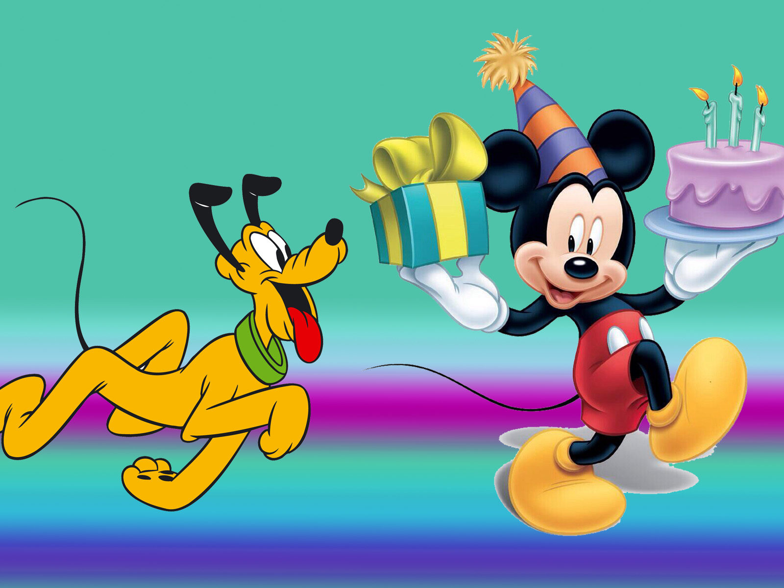 Mickey Mouse And Pluto Birthday Cake Celebration Gifts
