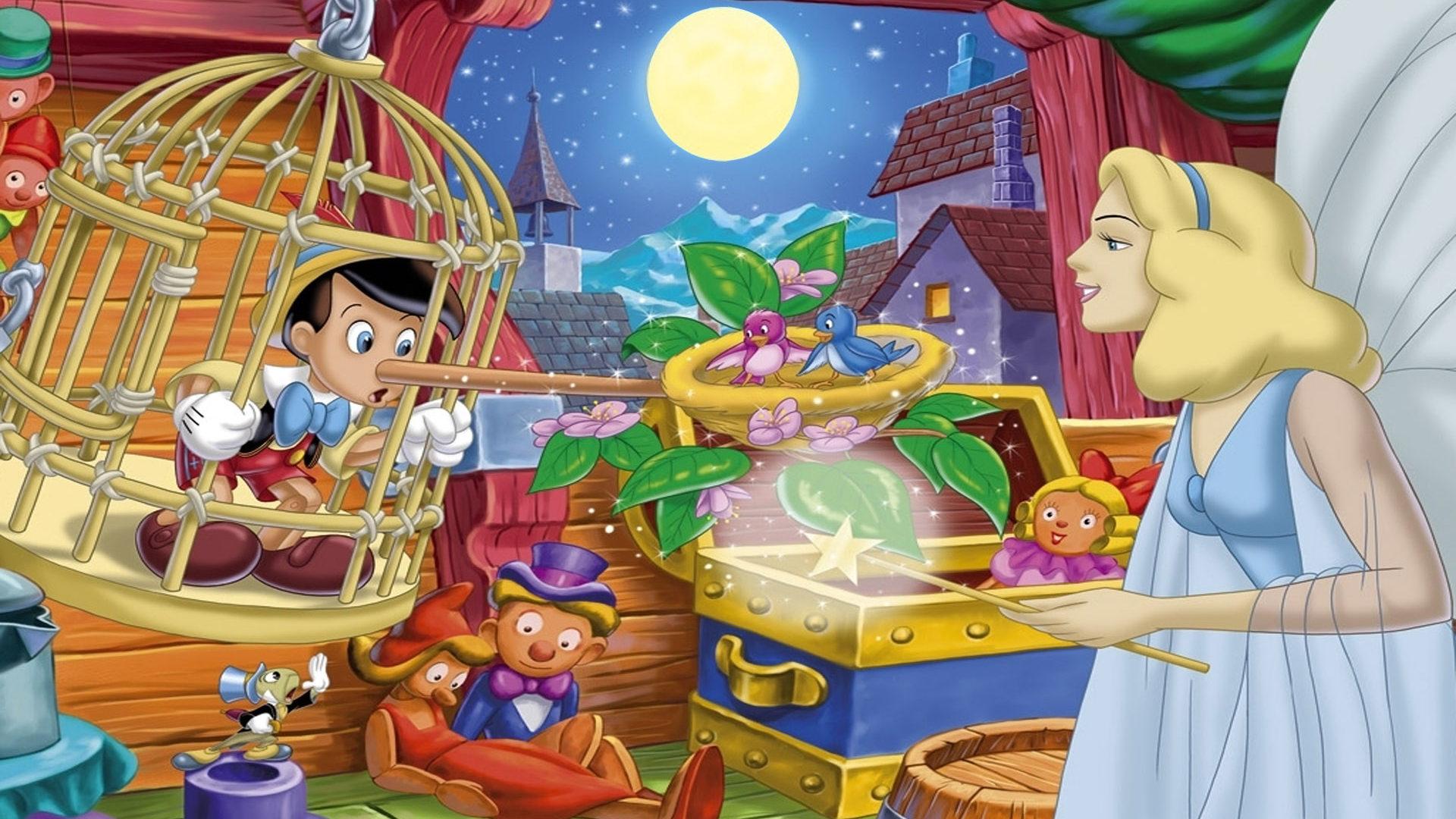 Free Fall Harvest Wallpaper Pinocchio And The Fairy Cartoons Walt Disney Desktop Hd
