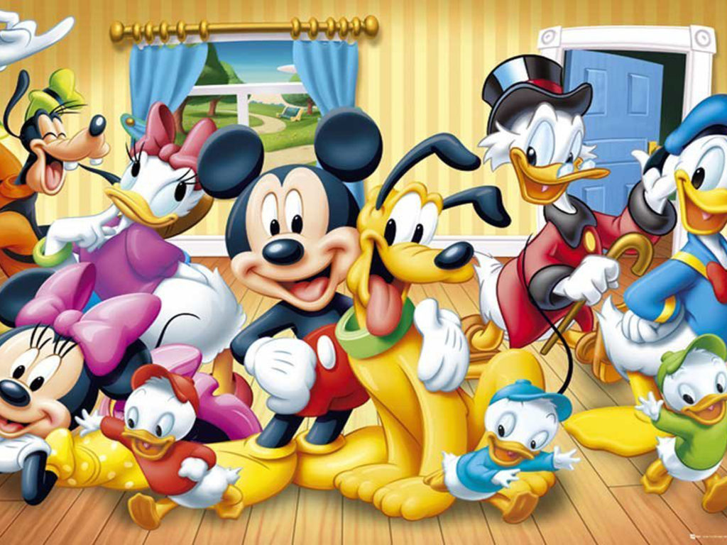 Hd Disney Cartoon Wallpapers Walt Disney Poster Mickey Mouse And Friends Wallpaper Hd