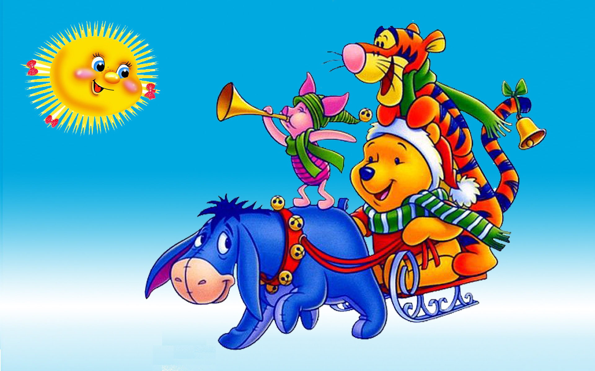 Xmas Wallpaper Iphone Winnie The Pooh And Friends Eeyore Tigger And Piglets