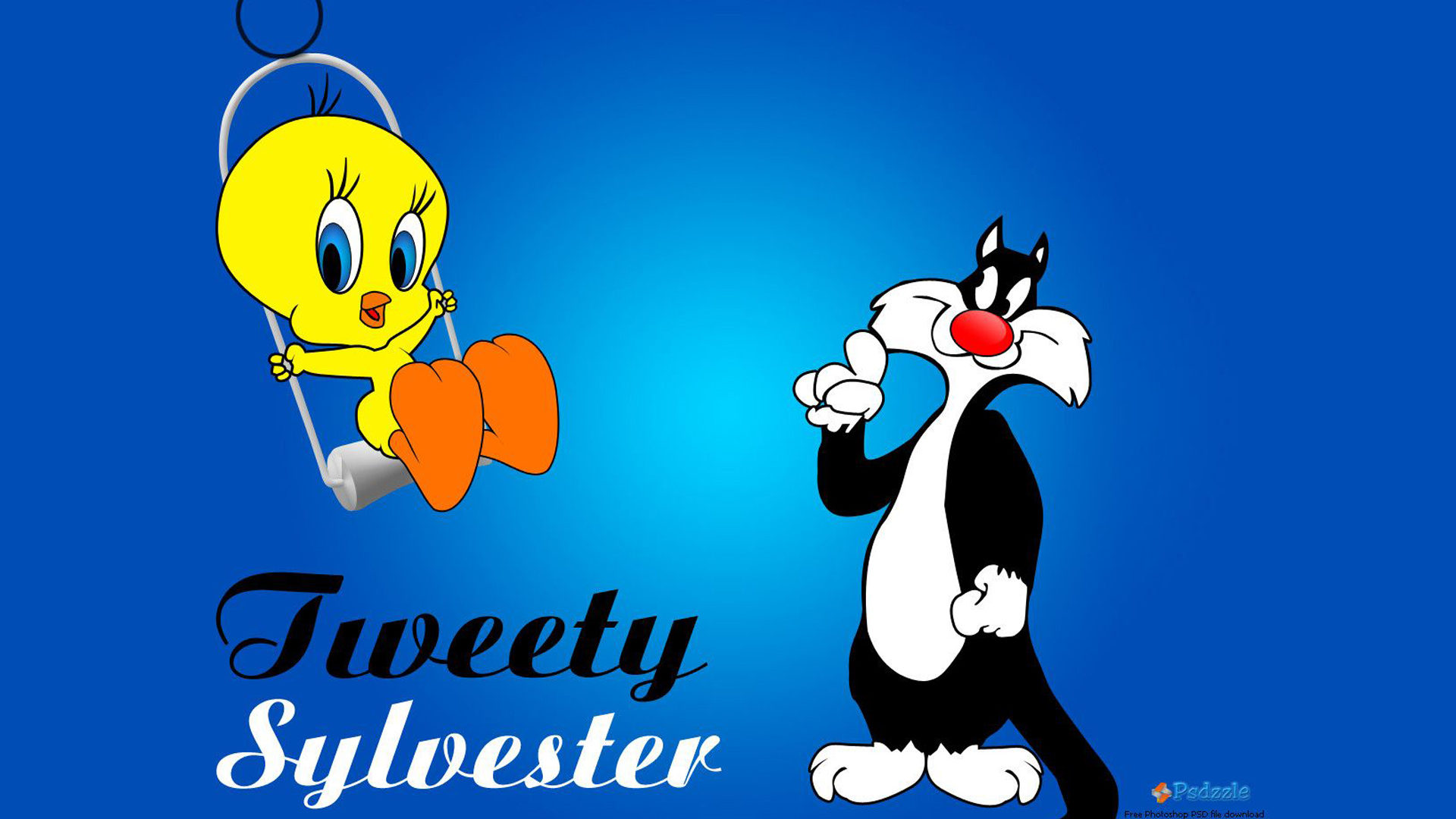 Cute Summer Love Wallpapers Lonnie Tounes Cartoon Tweety Bird Amp Sylvester Cat Swing