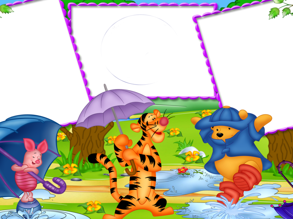 Iphone X Frame Wallpaper Piglet Tigger And Winnie The Pooh Frames Png Hd Desktop