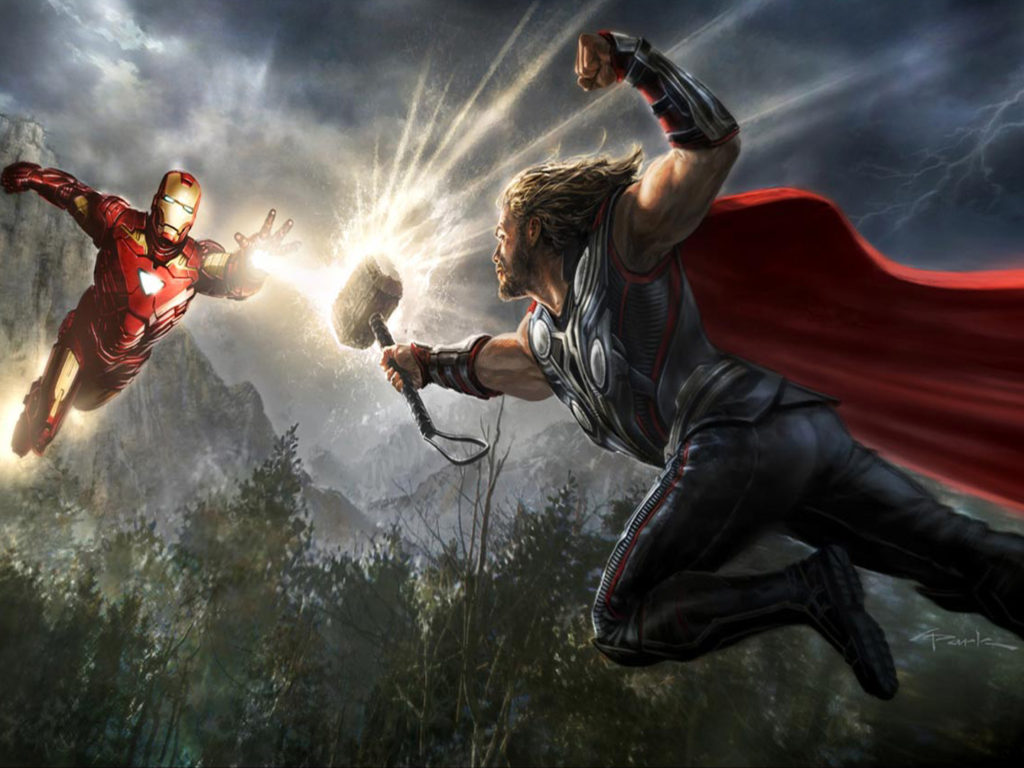Iphone X Full Wallpaper Size Thor And Iron Man The Avengers Marvel Movies Full Hd