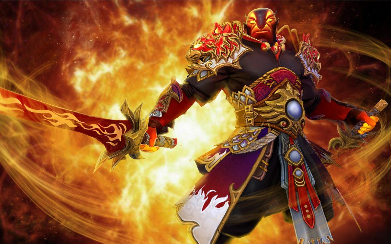 Gun Anime Girl Wallpaper Dota 2 Ember Spirit Fighter Sword Fire Jewelry Game Fan