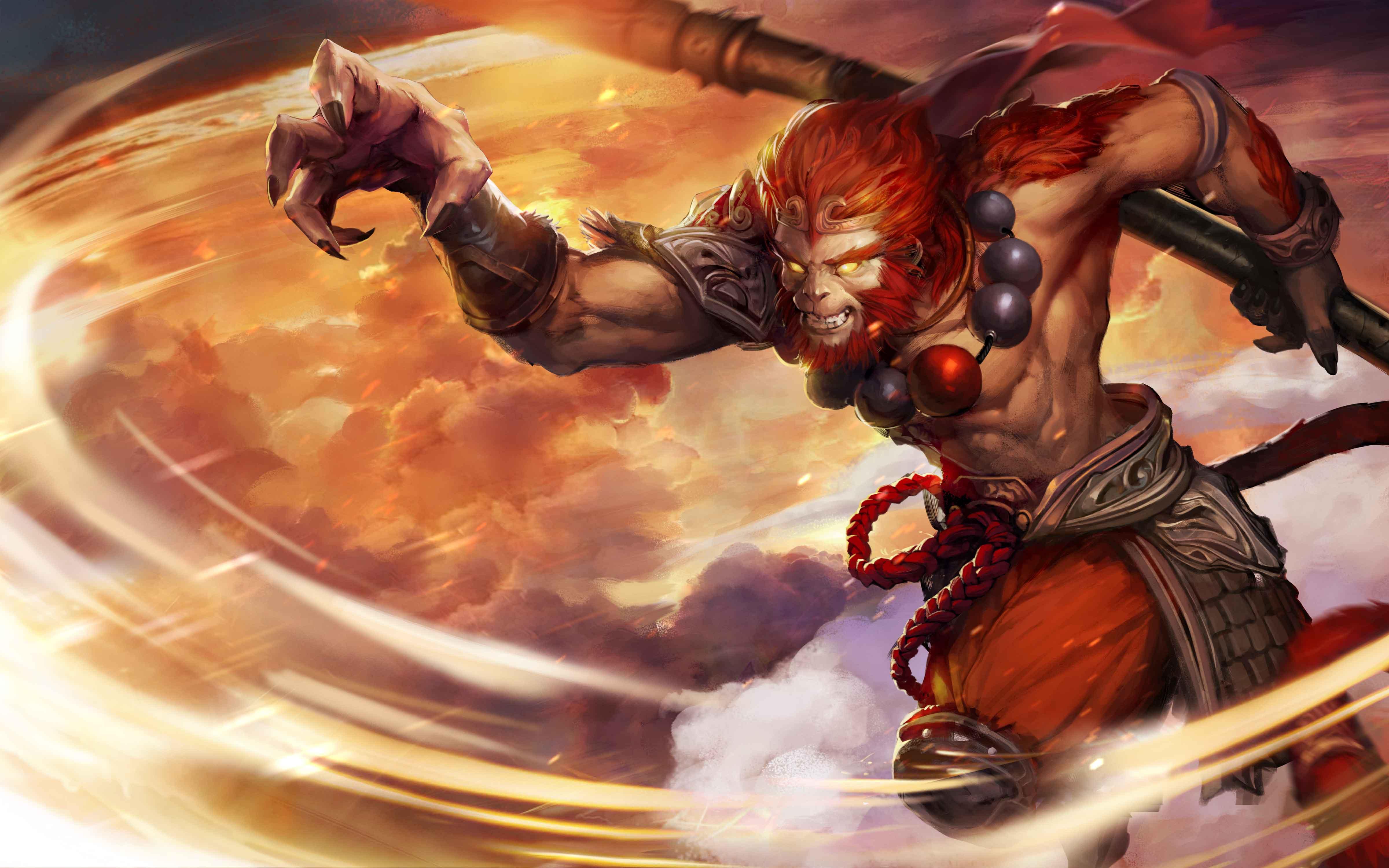 Dota 2 Video Game Phantom Lancer Monkey King Sun Wukong Hd