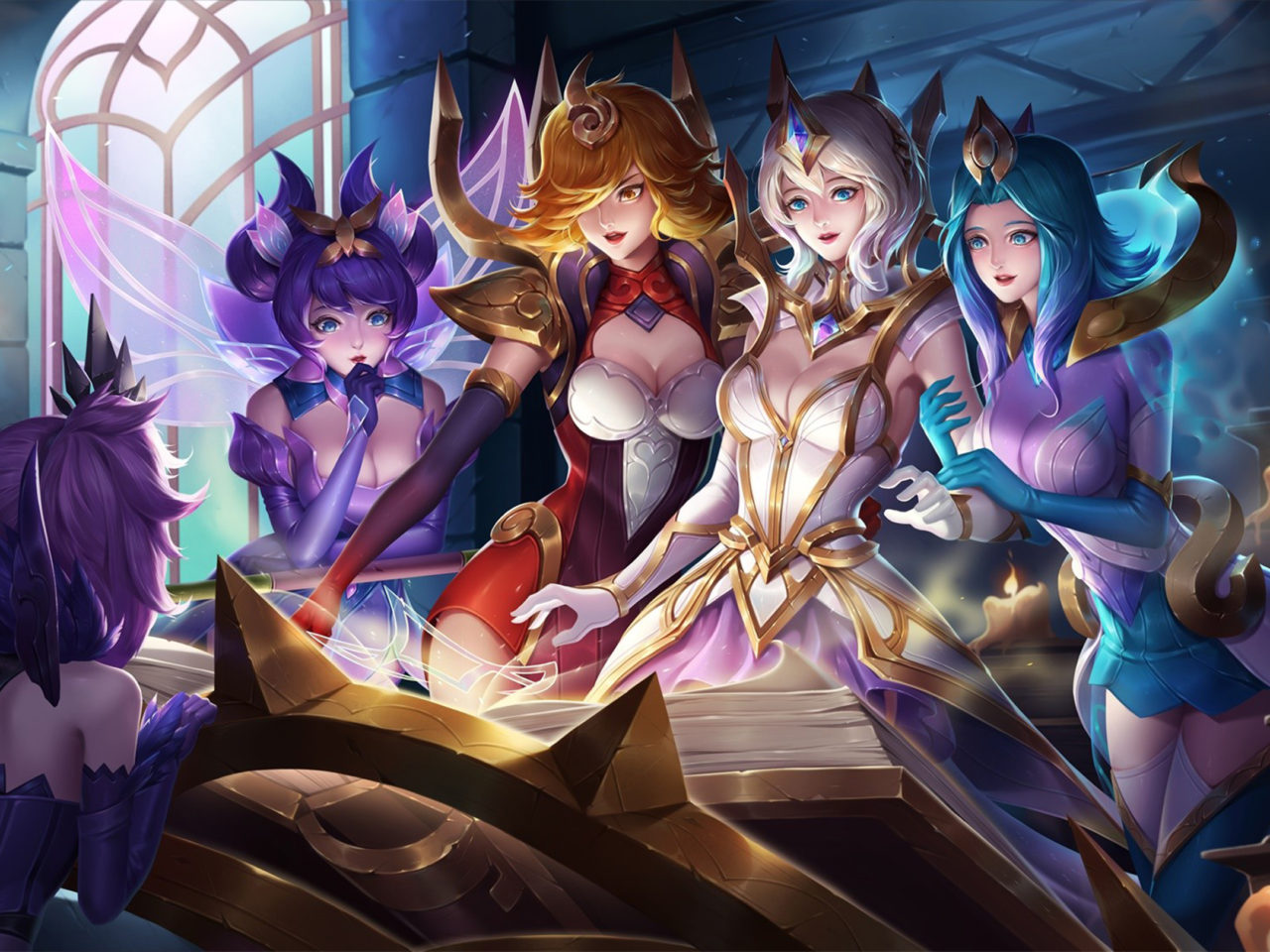 4k Christmas Wallpaper Iphone X Elementalist Lux Skin Video Game League Of Angel Fan Art