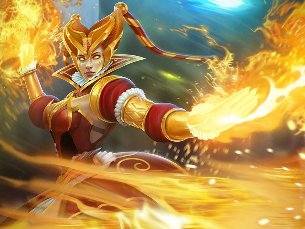 Lord Wallpaper Hd Download Slayer Lina Fire Harlequin Skin Dota 2 Hd Wallpaper For Pc