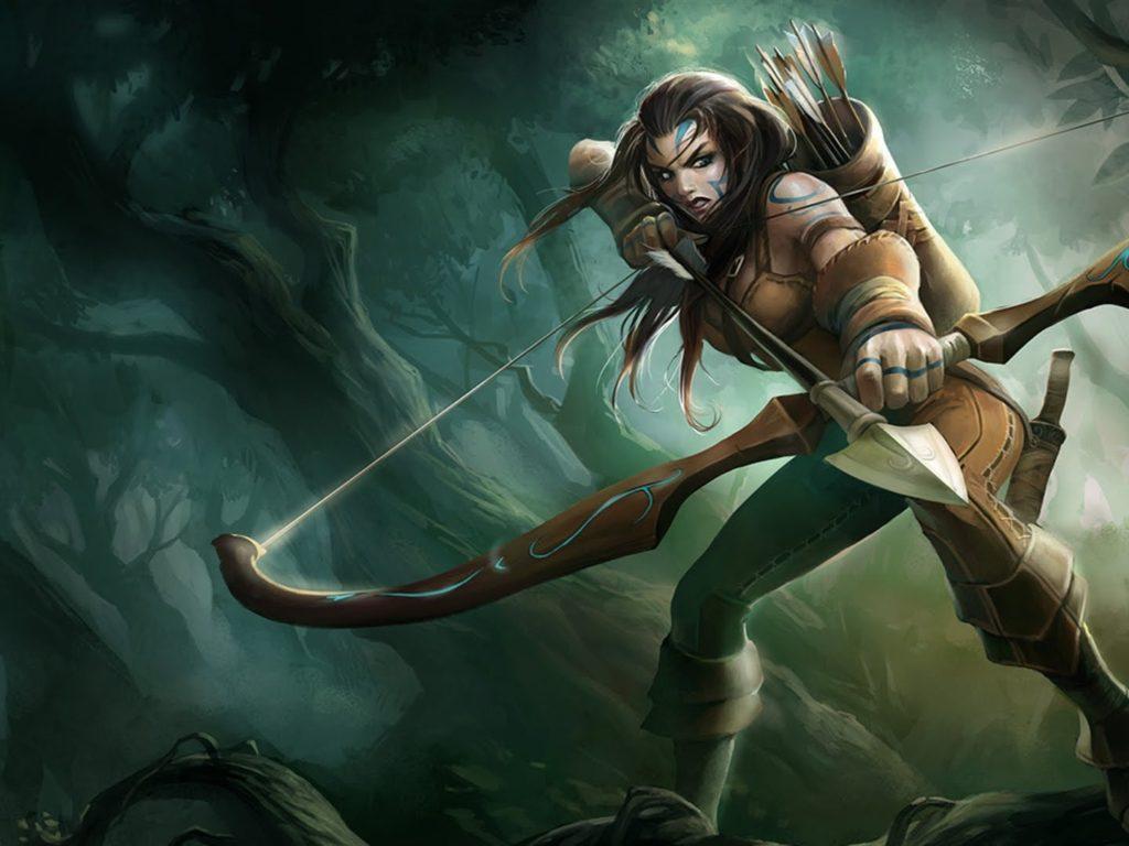 New Hd Wallpaper Girl Download Woad Ashe League Of Legends Splash Art Hd Desktop