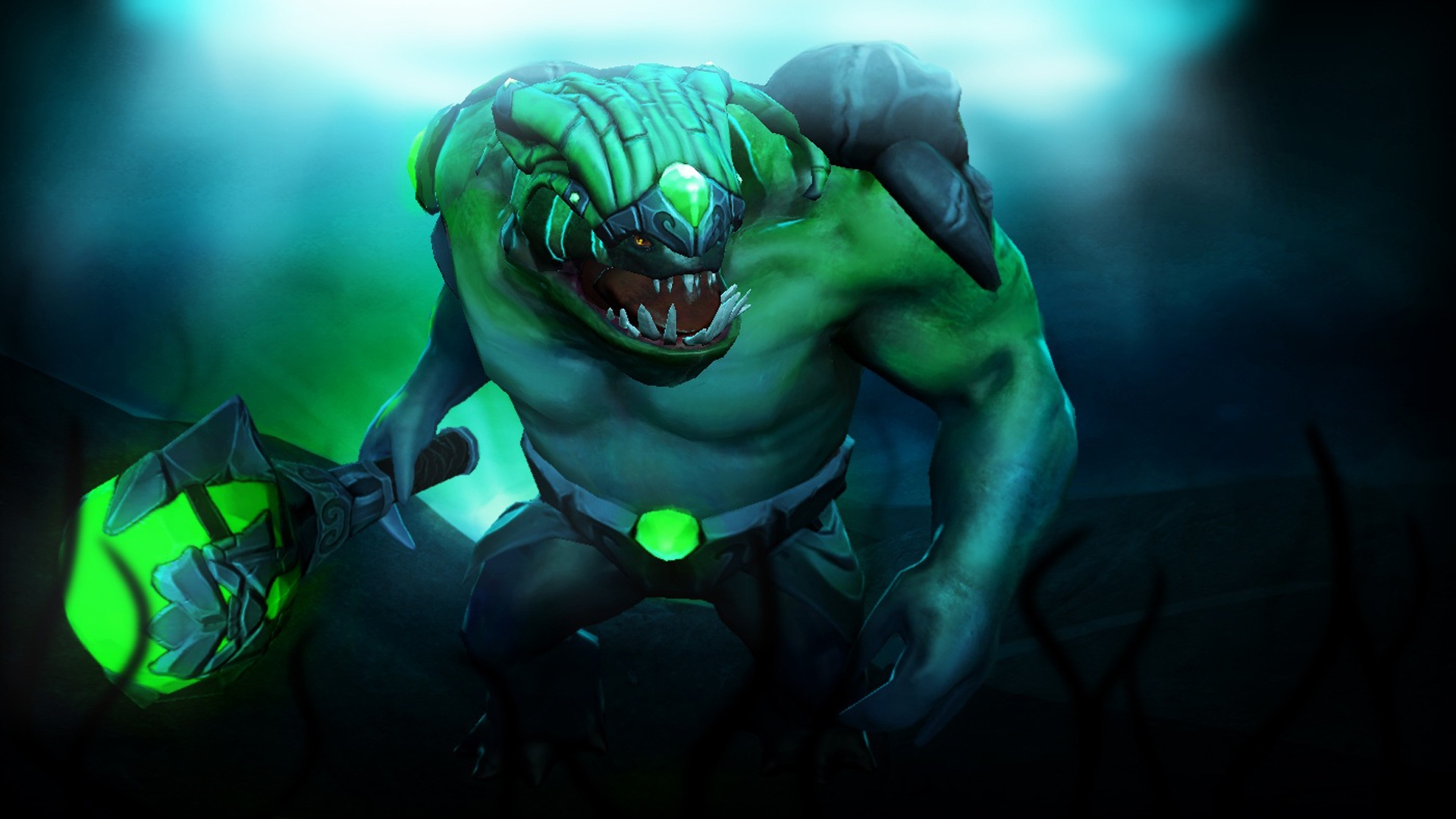 Dota 2 Anime Characters Tidehunter Set Vector Art Hd