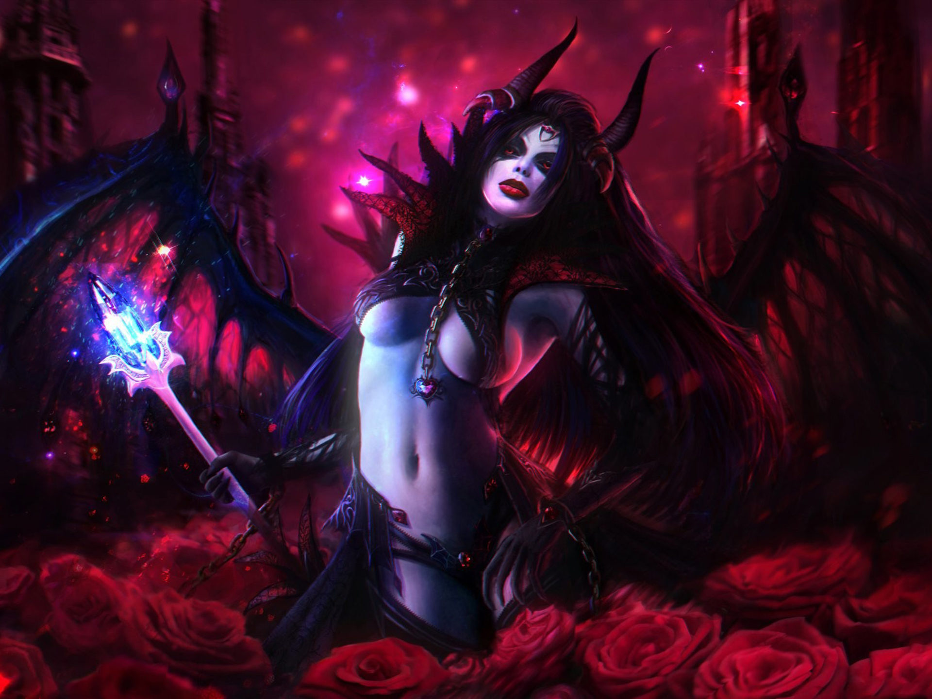 Girl With Bow Wallpaper Queen Of Pain Dota 2 Heroes Video Game Beautiful Girls