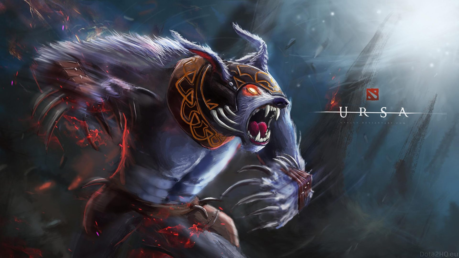 Dota 2 Heroes Ursa Roles Carry Jungler Disabler Durable Fan Art Wallpaper Hd 2560x1440
