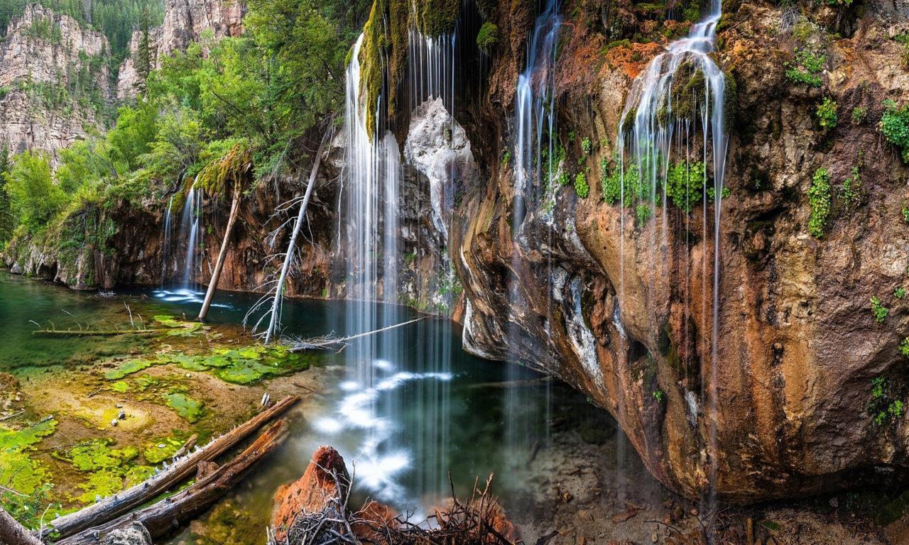 Colorado Fall Desktop Wallpaper Hanging Lake Glenwood Canyon 7 Miles East Of Glenwood