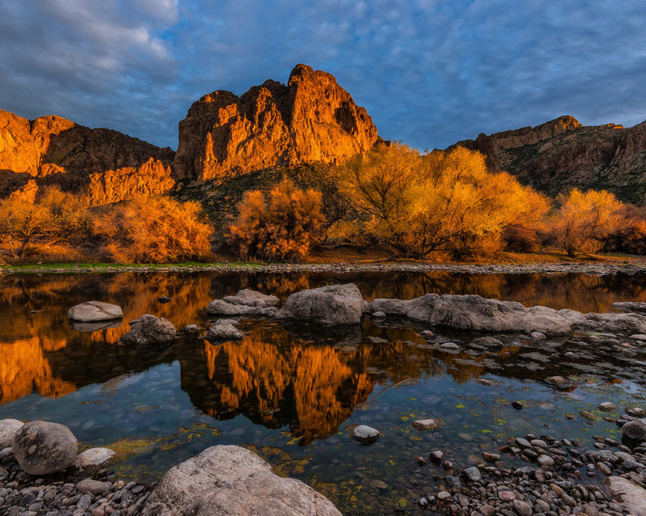 Fall Wallpaper For Desktop 1920x1080 Sunsire Bulldog Cliffs Lower Salt River Goldfield