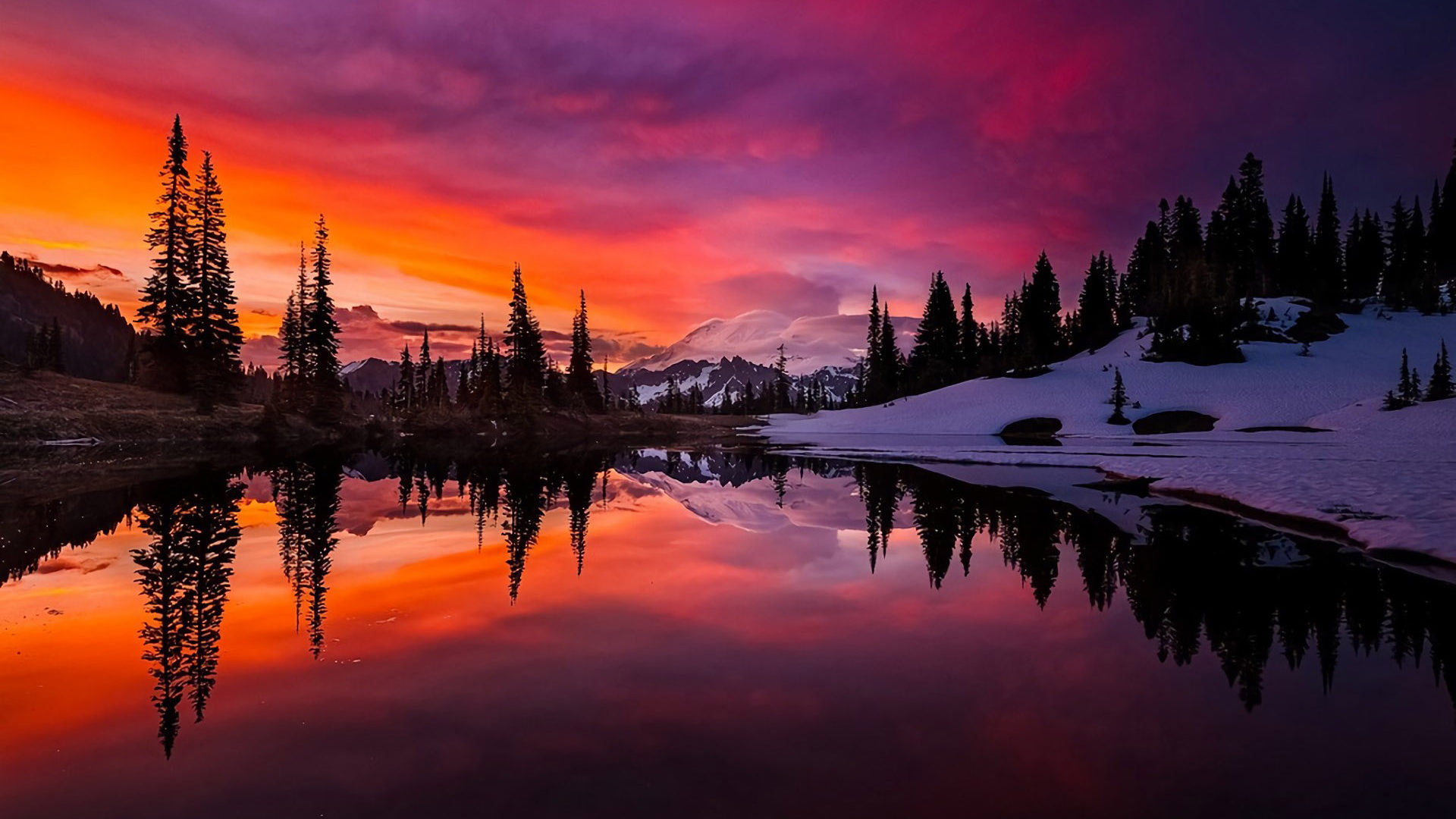 Cool Sun Quotes Wallpaper Tipsoo Lake Alpine Lake Near The Top Of The Chinook Pass