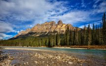 Castle Mountain Located In Banff National Park