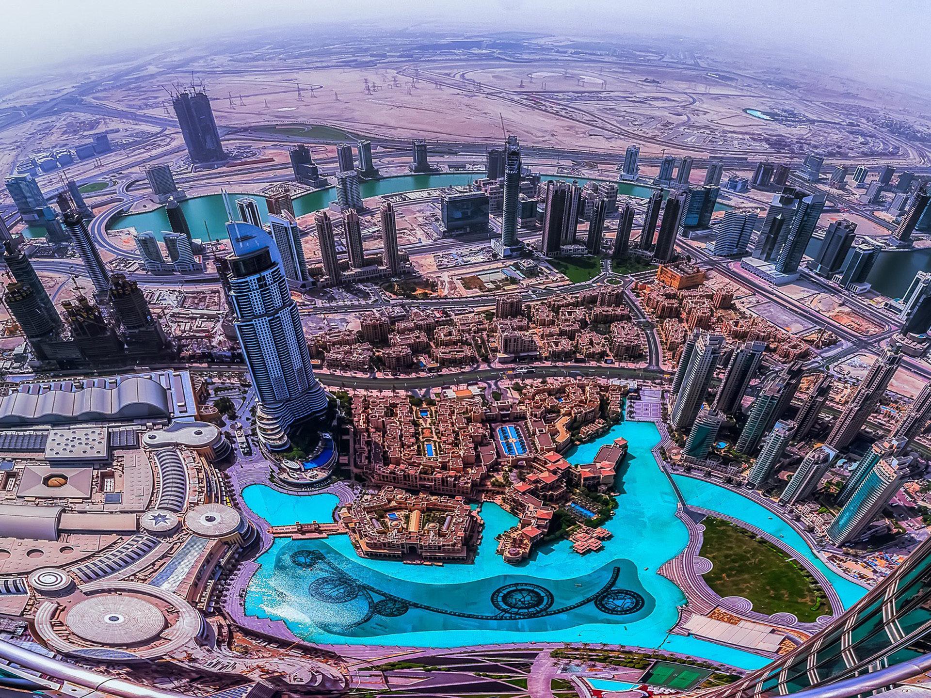 Spain Wallpaper Iphone Dubai Aerial View From The Top Of Burj Khalifa Desktop Hd
