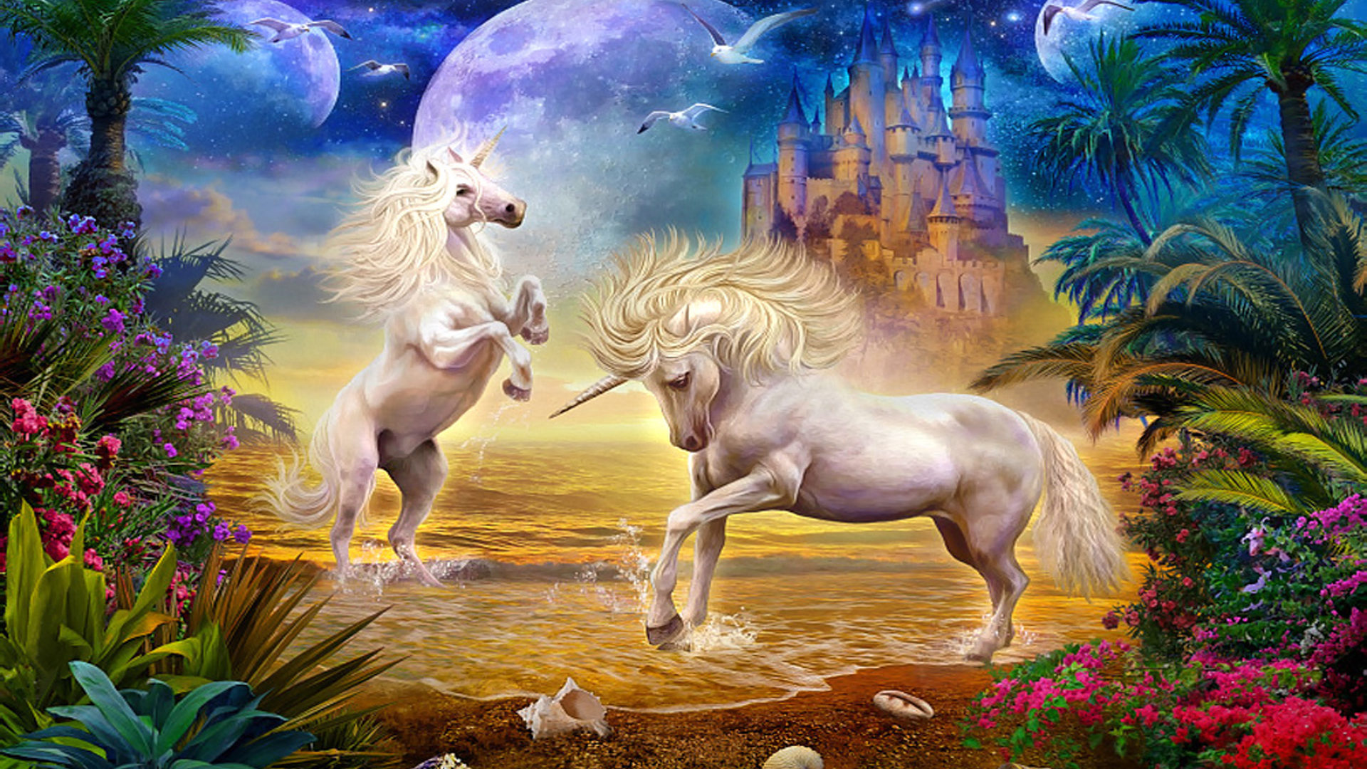 Magic Unicorns Myths And Legends Fantasy Hd Wallpaper