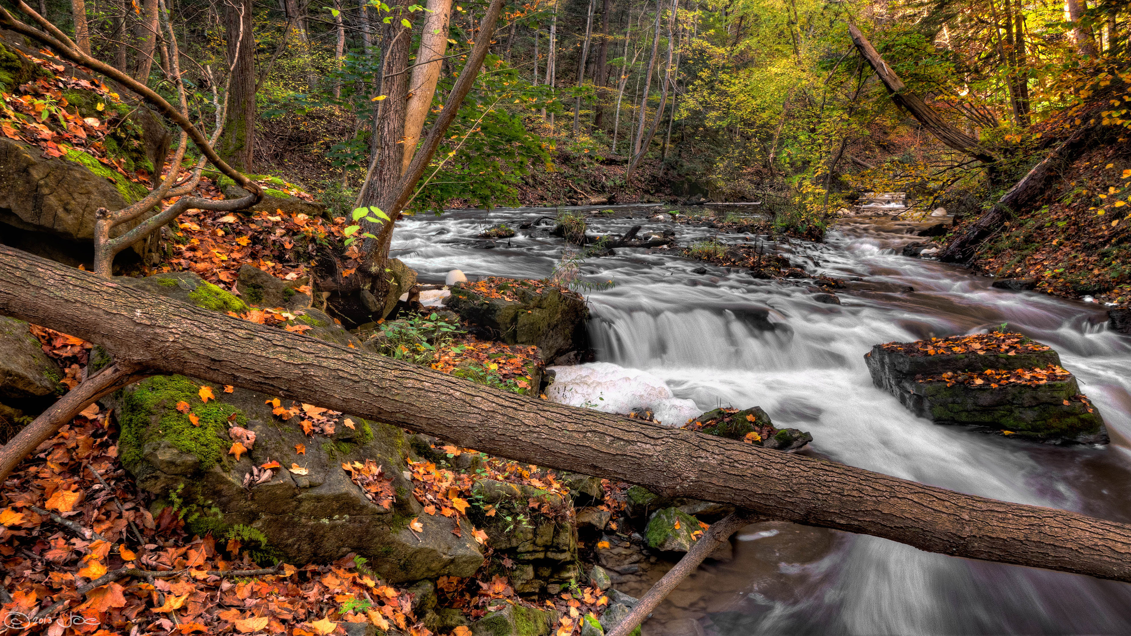 Fall Scene Wallpaper For Iphone Spencer Creek Dundas Webster S Falls Canada River In