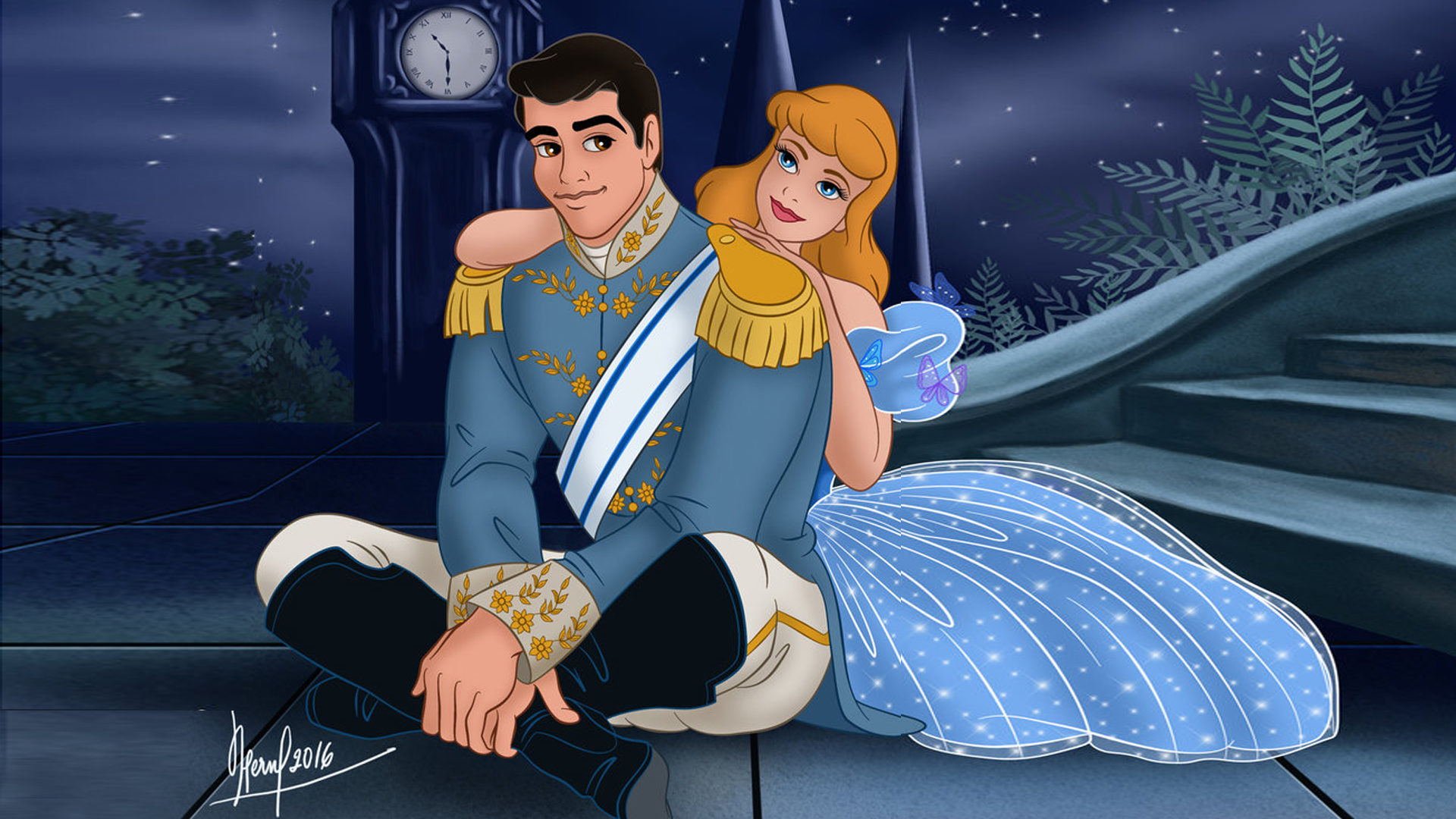 Animated Wallpapers For Pc Desktop Free Download Cinderella And Prince Charming Romantic Evening Love