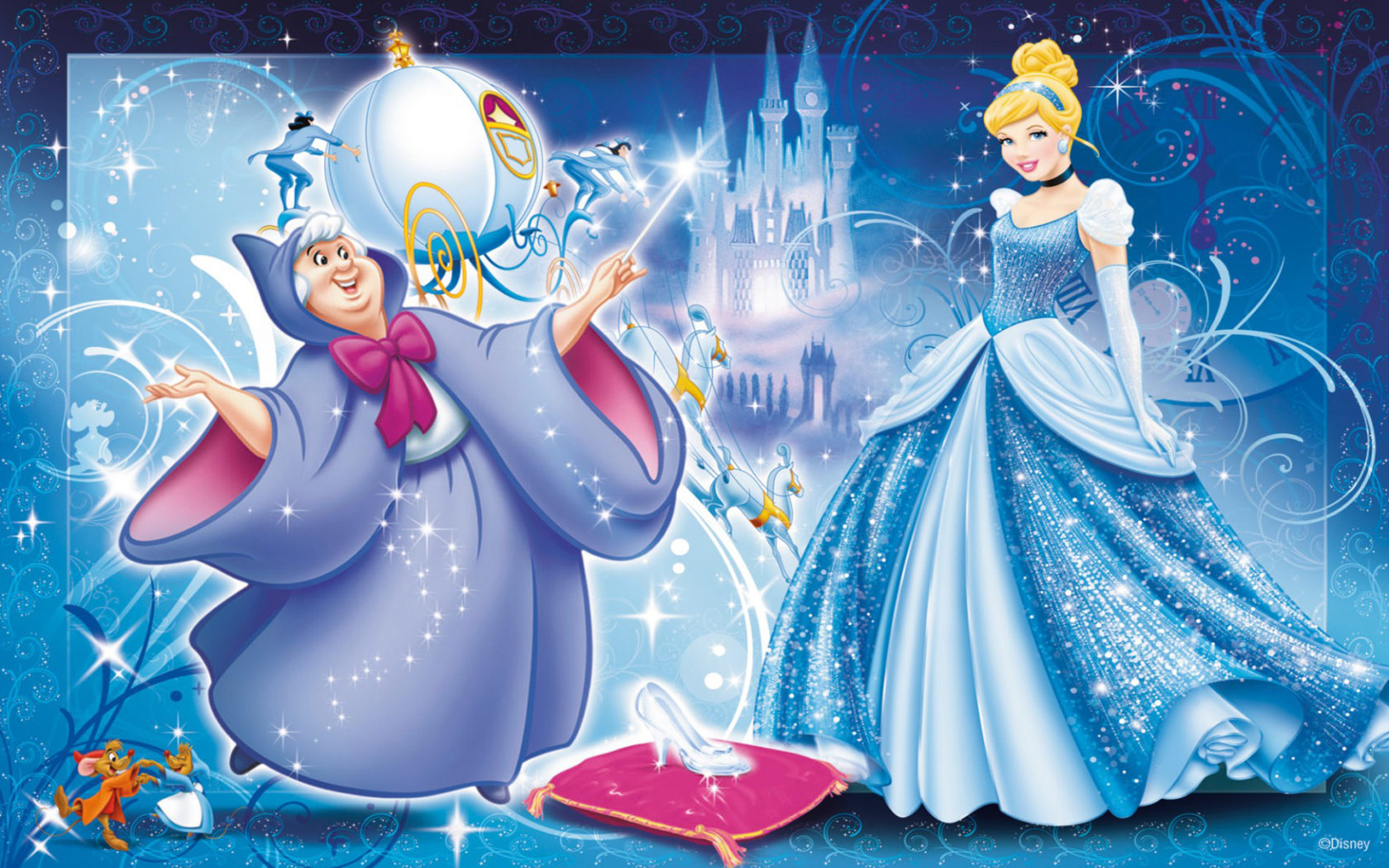 Water Animation Wallpaper Fairy Godmother Bows Magical Shoes On Cinderella Photo