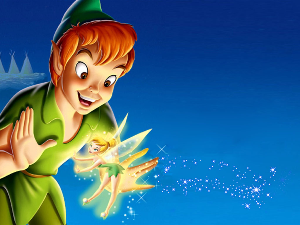 Cartoon Hd Wallpapers For Iphone 5 Peter Pan And Tinkerbell Desktop Hd Wallpapers For Mobile