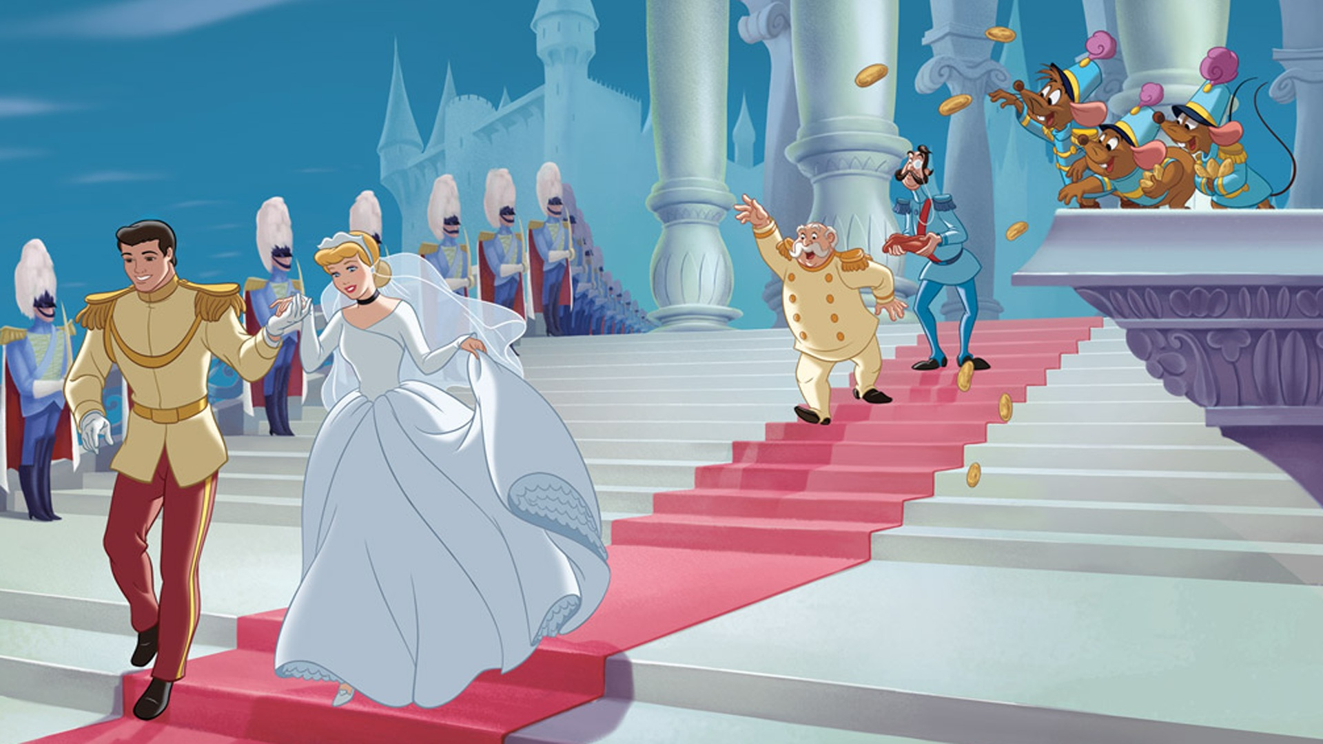 Download Cute Cartoon Couple Wallpapers Wedding On Princess Cinderella And Prince Charming Cartoon