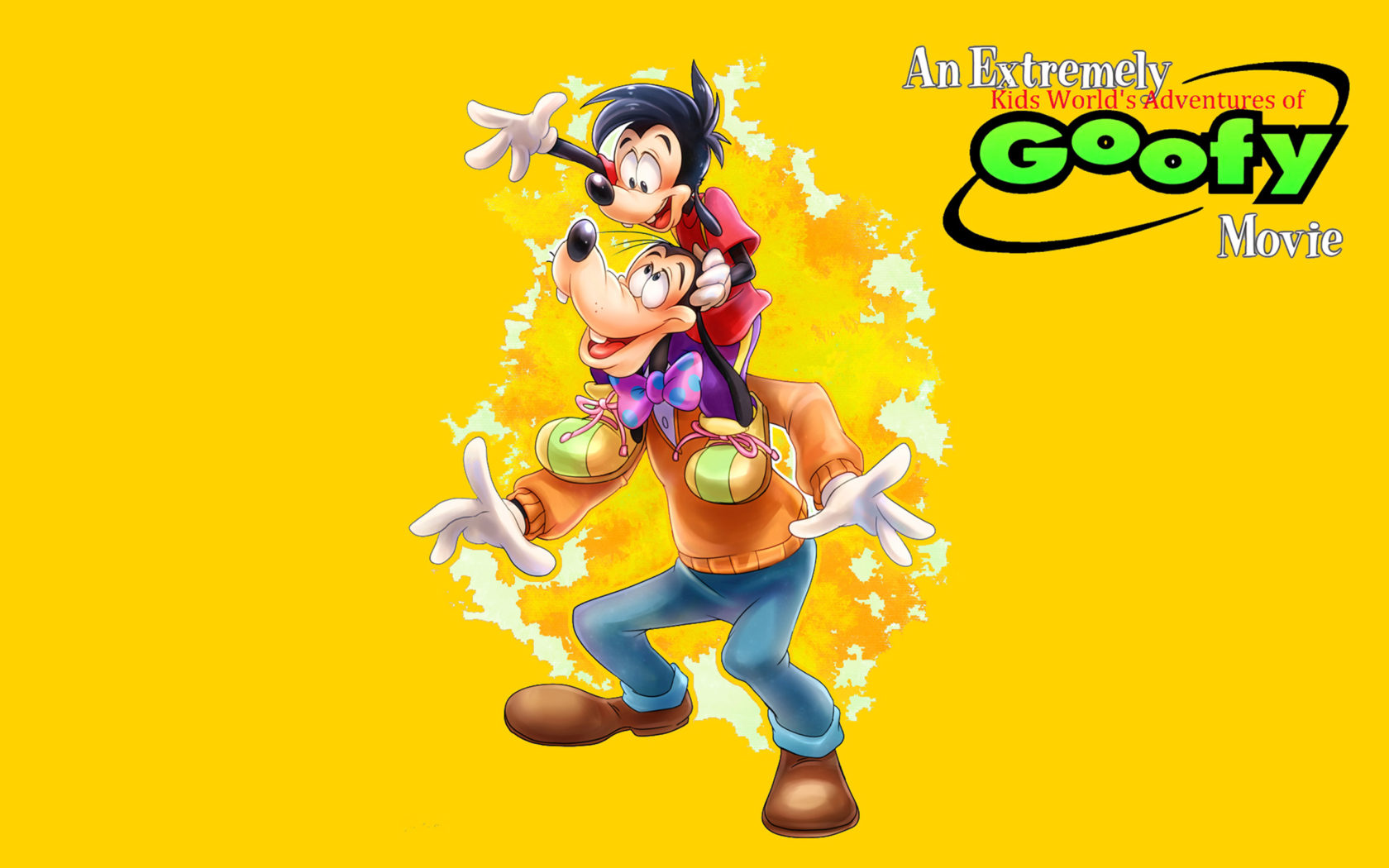 an extremely goofy movie goofy and max disney cartoon poster wallpapers hd for mobile phones