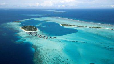Conrad Maldives Rangali Island Resort Indian Ocean Aerial ...