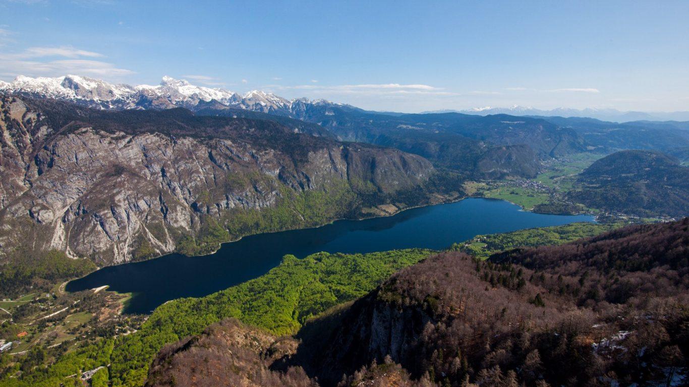 Fall Hills Wallpaper Lake Bohinj National Park Triglav Natural Beauties In