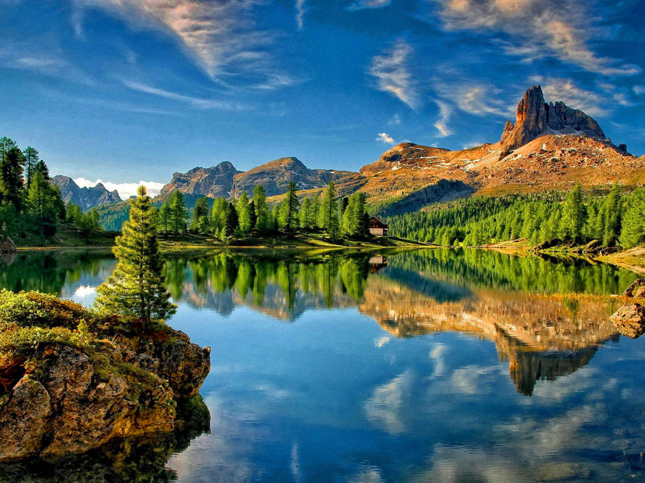 Lake Mountain Sky Reflection Desktop Wallpapers High