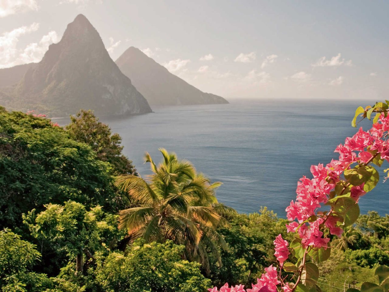 Country Wallpaper Iphone Saint Lucia Country In The Caribbean Mountain Gros Piton