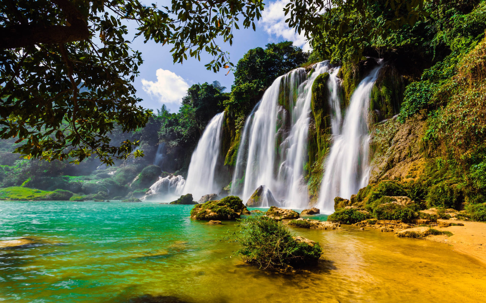 Iguazu Falls Wallpaper 1920x1200 Ban Gioc Waterfall In China And Vietnam 4k Wallpapers Hd