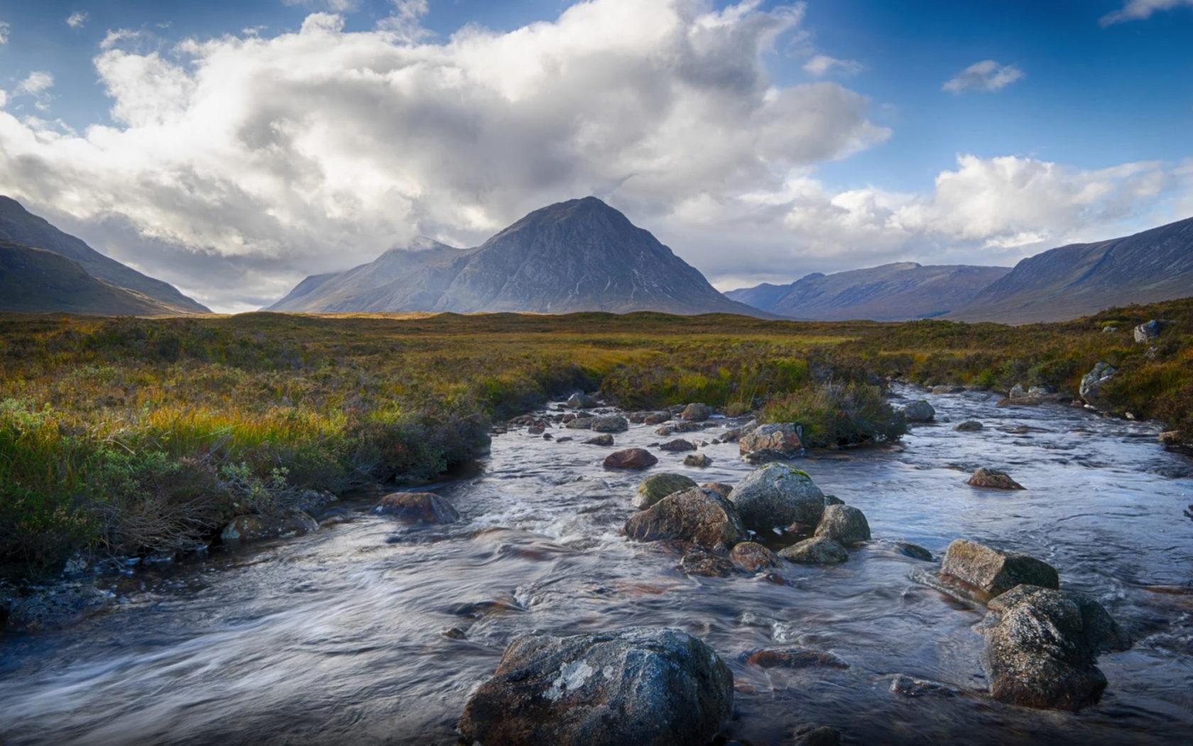 Fall Colors Wallpaper 1920x1080 Glen Coe Mountain In Scotland Of Volcanic Origin In The