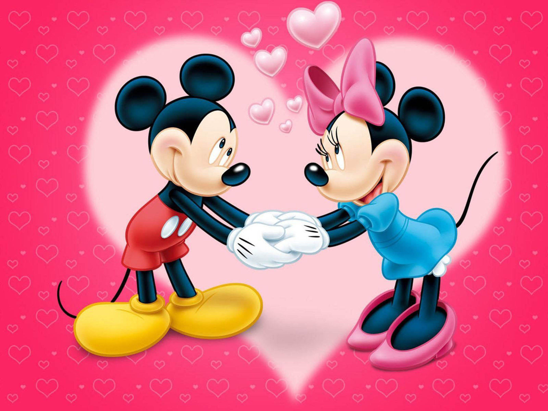 Cartoon Love Couple Hd Wallpapers Mickey And Minnie Mouse Love Couple Cartoon Red Wallpaper