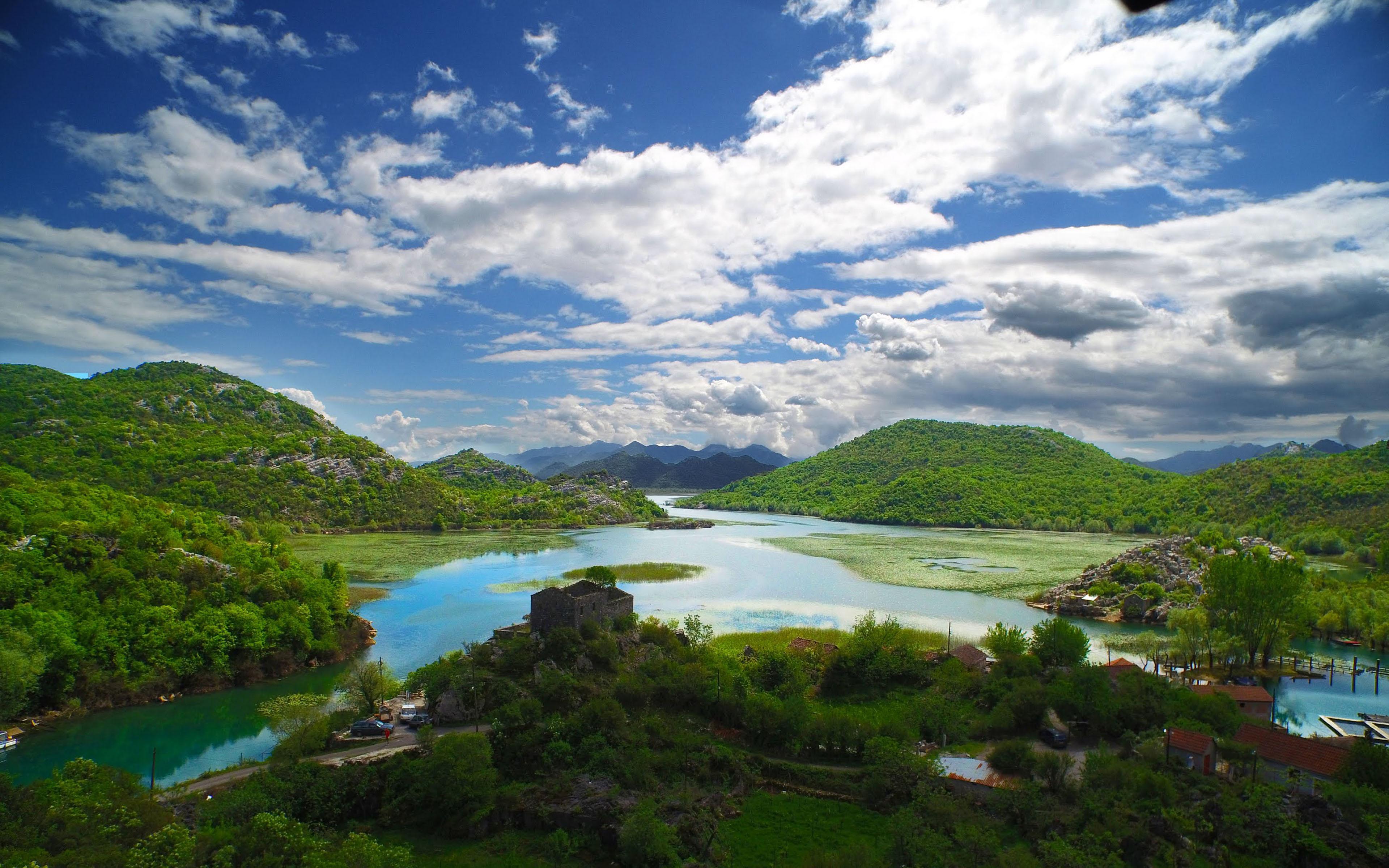 Fall Wallpaper For Desktop Free River Crnojevića Swim In Skadar Lake National Park