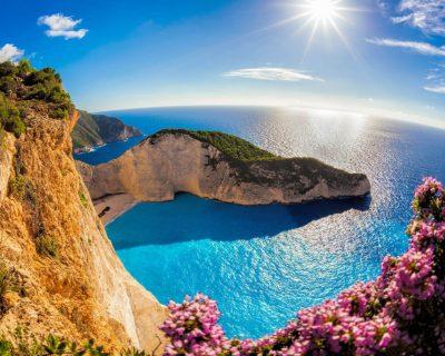 Zakynthos Island In The Ocean In Greece Navajo Beach Sea ...
